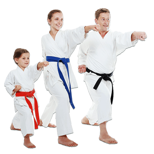 Martial Arts Lessons for Families in Manahawkin NJ - Man and Daughters Family Punching Together